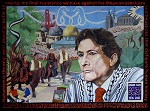 Picture of Edward Said Mural link to scholarship